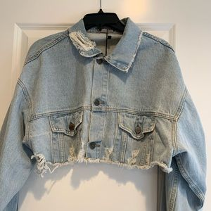 NWT Cropped Denim Jacket by Carmar Denim
